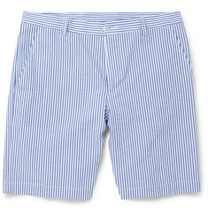 Etro Striped Seersucker Shorts