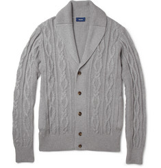 Faconnable Cable-Knit Cotton and Cashmere-Blend Cardigan