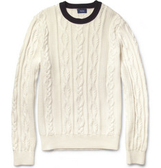 Faconnable Cable-Knit Cotton and Cashmere-Blend Sweater