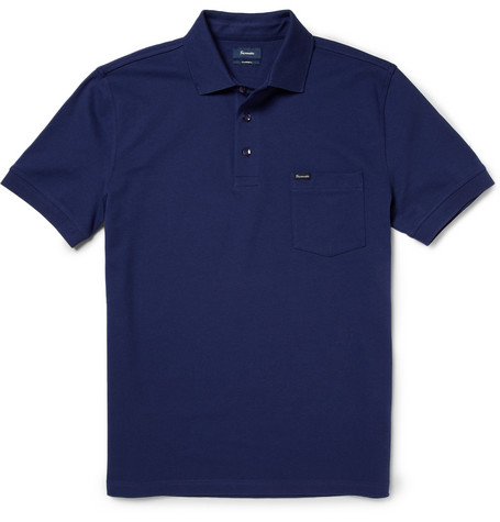 Faconnable Cotton-Blend Polo Shirt
