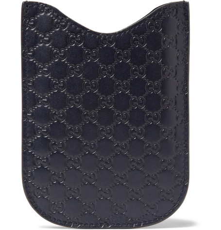Gucci Embossed Leather IPhone Case