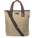 Gucci - Leather-Trimmed Canvas Tote Bag
