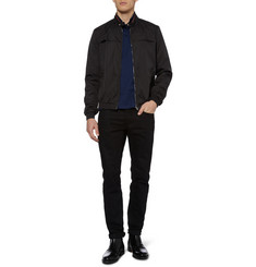 Gucci Contrast-Trim Lightweight Bomber Jacket