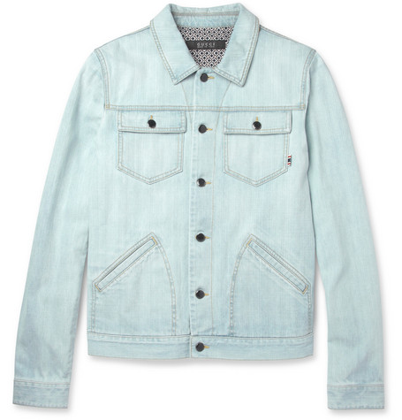Gucci Washed-Denim Jacket