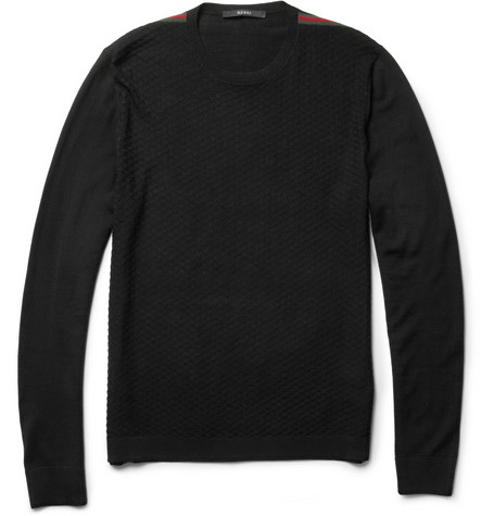 Gucci Knitted Wool Crew Neck Sweater