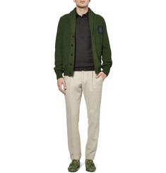 Gucci Long-Sleeved Wool Polo Shirt