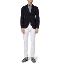 Gucci Slim-Fit Horsebit-Print Cotton and Silk-Blend Poplin Shirt