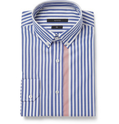 Gucci Blue and White Slim-Fit Striped Shirt