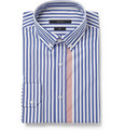 Gucci Blue Slim-Fit Striped Shirt