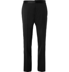 Gucci Black Slim-Fit Wool Tuxedo Trousers