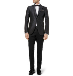 Gucci White Slim-Fit Cotton Tuxedo Shirt