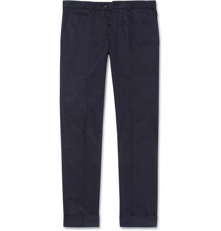 Gucci Slim-Fit Cotton Trousers