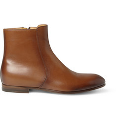 Gucci Burnished Leather Boots