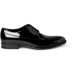 Gucci Patent-Leather Derby Shoes