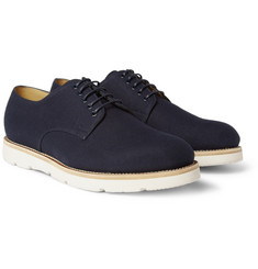 Gucci Rubber-Sole Canvas Derby Shoes