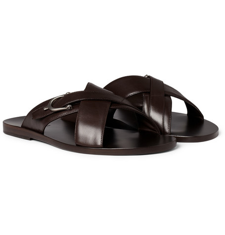 Gucci Leather Horsebit Sandals