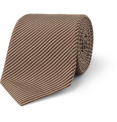 Gucci Silk and Cotton-Blend Seersucker Tie