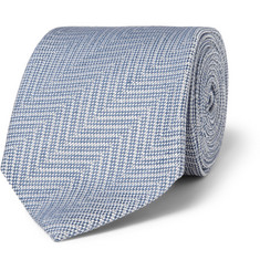 Gucci Patterned Linen and Silk-Blend Tie