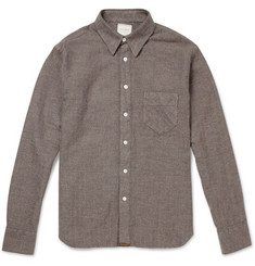 Billy Reid Walland Brushed Herringbone Cotton Shirt