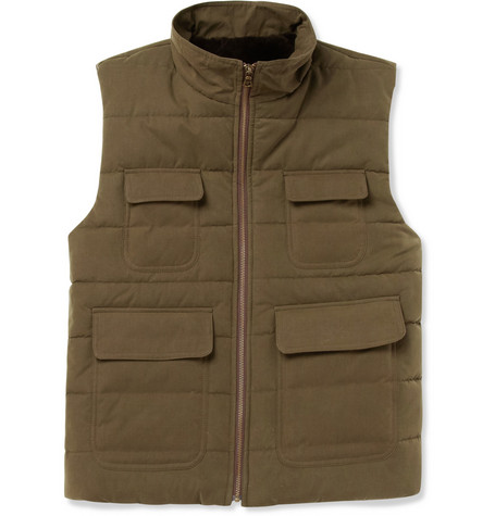 Billy Reid Down-Filled Shearling-Lined Gilet