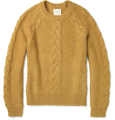 Billy Reid Cable-Knit Mohair-Blend Sweater