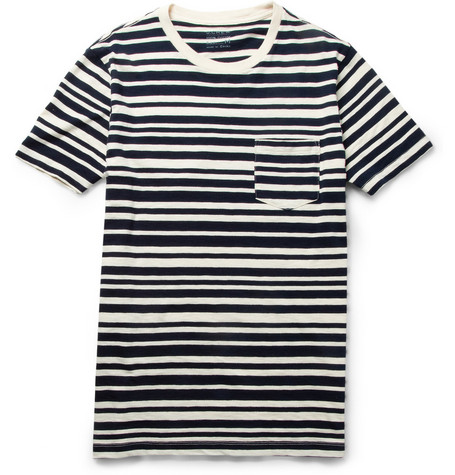 J.Crew Striped Slub Cotton-Jersey T-Shirt