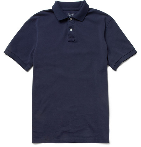 J.Crew Vintage-Inspired Cotton-Piqué Polo Shirt