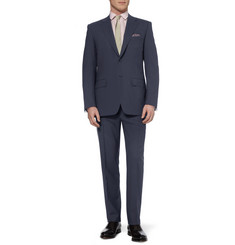 Canali Dark Blue Wool Travel Suit