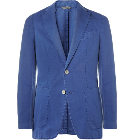 Canali Slim-Fit Cotton and Linen-Blend Blazer
