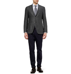 Canali Kei Unstructured Patterned Linen Blazer