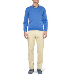 Canali V-Neck Cotton Sweater