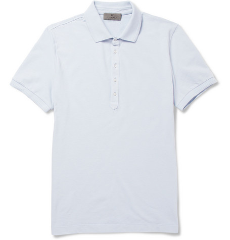 Canali Cotton-Blend Piqué Polo Shirt