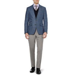 Canali Tapered-Leg Wool Trousers