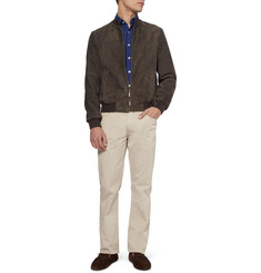 Canali Straight-Leg Cotton-Blend Chinos