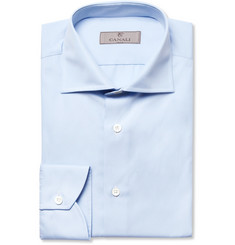 Canali Light Blue Cotton Shirt