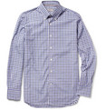 Canali - Button-Down Collar Plaid Cotton Shirt