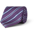 Canali - Striped Woven-Silk Tie