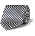 Canali - Gingham Check Silk Tie