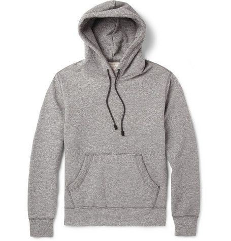 Rag & bone Suede-Trimmed Cotton-Blend Loopback Hoodie
