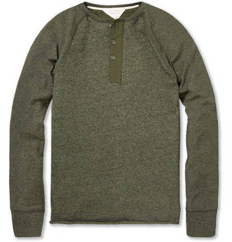 Rag & bone Long-Sleeved Cotton-Blend Henley T-Shirt