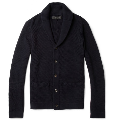 Rag & bone Montfort Waffle-Knit Cotton Cardigan