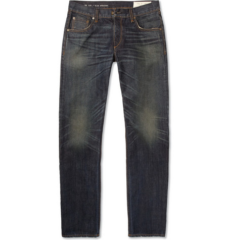 Rag & bone Slim-Fit Overdyed-Cotton Jeans