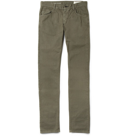 Rag & bone RB15X Slim-Fit Cotton-Canvas Trousers