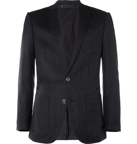 NN.07 Johan Slim-Fit Chalk-Stripe Wool Blazer