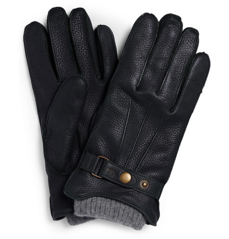NN.07 Knit-Lined Leather Gloves