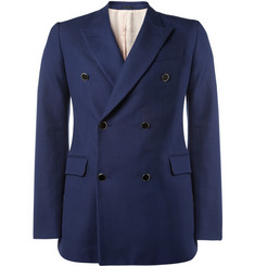 Alexander McQueen Slim-Fit Cotton and Wool-Blend Blazer