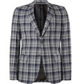 Alexander McQueen Slim-Fit Check Wool Blazer