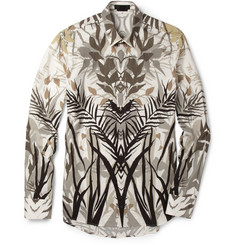 Alexander McQueen Palm-Print Cotton Shirt