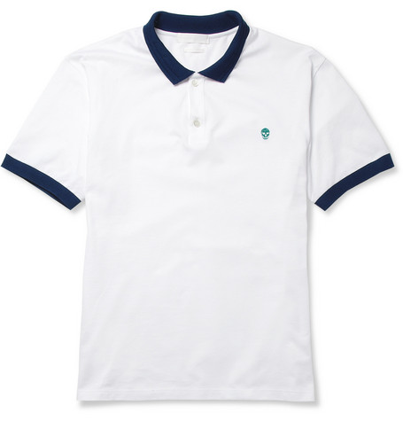 Alexander McQueen Cotton-Piqué Polo Shirt