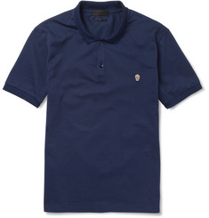 Alexander McQueen Skull-Embroidered Cotton-Piqué Polo Shirt